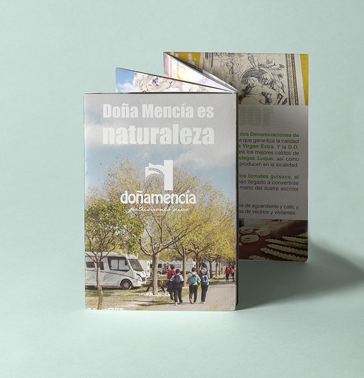 Diseño e impresión. Zig-Zag Turismo de Doña Mencía.