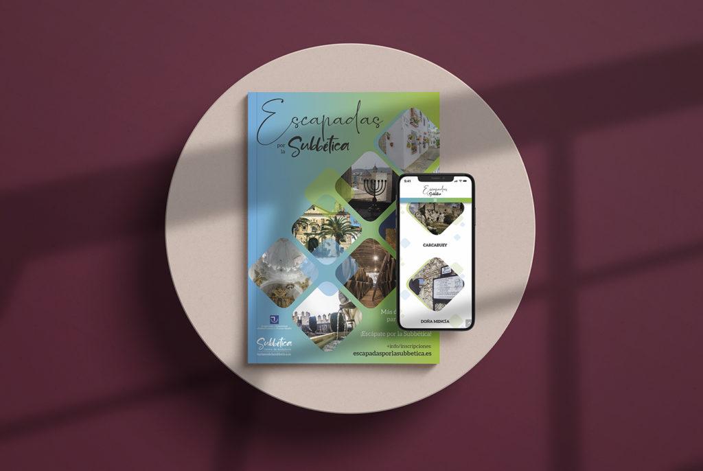 Diseño web, diseño gráfico e impresión. Escapadas por la Subbética.