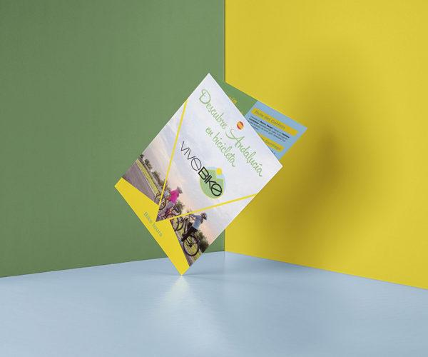Diseño gráfico e impresión. ViveBike Doña Mencía, Vía Verde del Aceite.