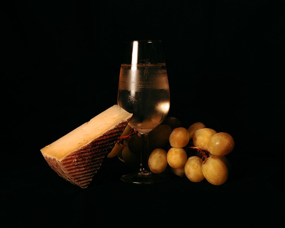 Fotografía gastronómica. DO Montilla-Moriles, vino y vinagre.