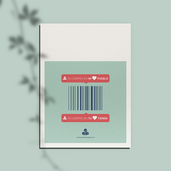 Diseño gráfico. Campaña en apoyo al Comercio Local.