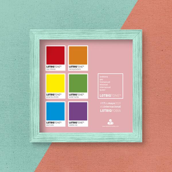 Diseño gráfico. Día Internacional contra la Homofobia, la Transfobia y la Bifobia.