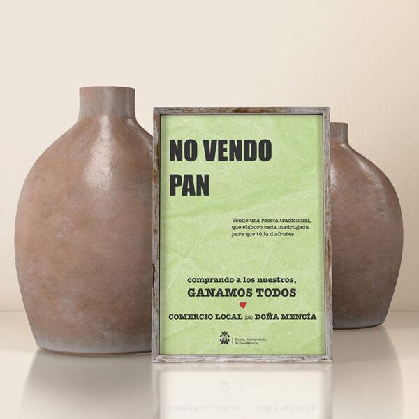 Diseño gráfico e impresión. Campaña en apoyo al Comercio Local, Ayto. de Doña Mencía.
