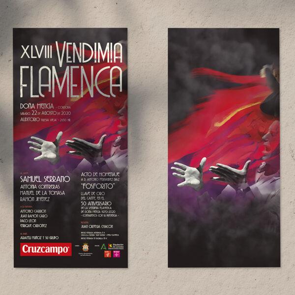 Diseño de imagen gráfica. XLVIII Vendimia Flamenca de Doña Mencía.