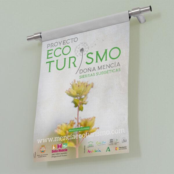 Diseño de cartel. Proyecto Ecoturismo Doña Mencía, Sierras Subbéticas.