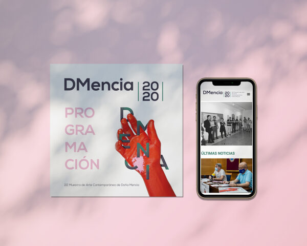 Diseño gráfico. DMencia 2020, 22 Muestra de Arte Contemporáneo.