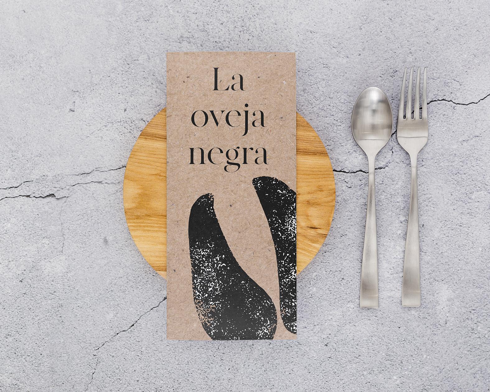 Fotografía gastronómica. Diseño de cartas, restaurante La Oveja Negra.