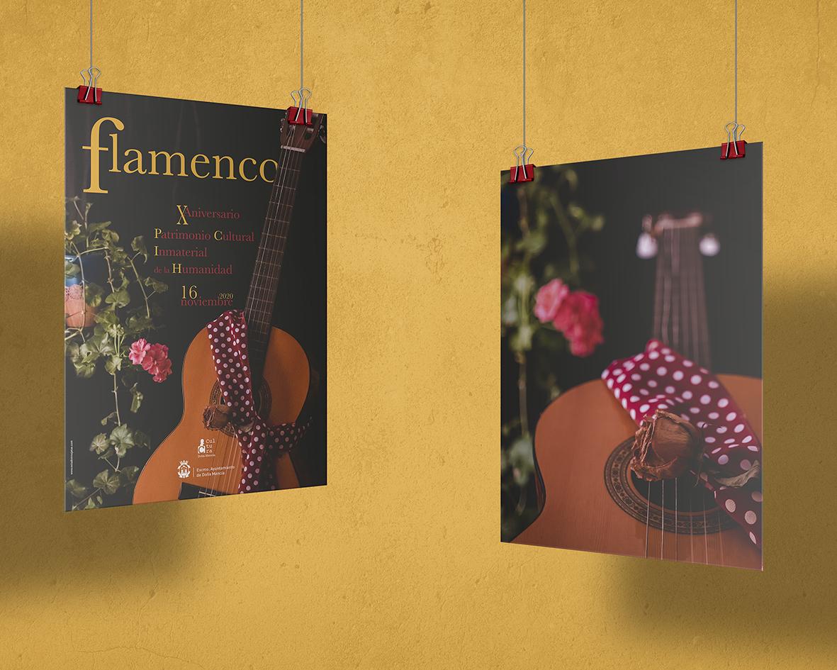 Diseño de cartel para el Día Internacional del Flamenco.