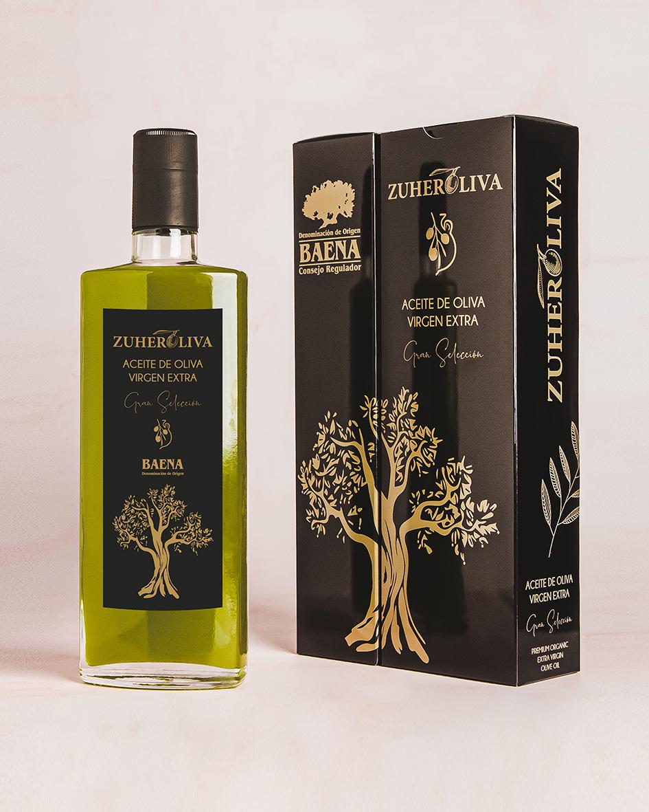 Packaging gourmet. Aceite de Oliva Virgen Extra Zuheroliva
