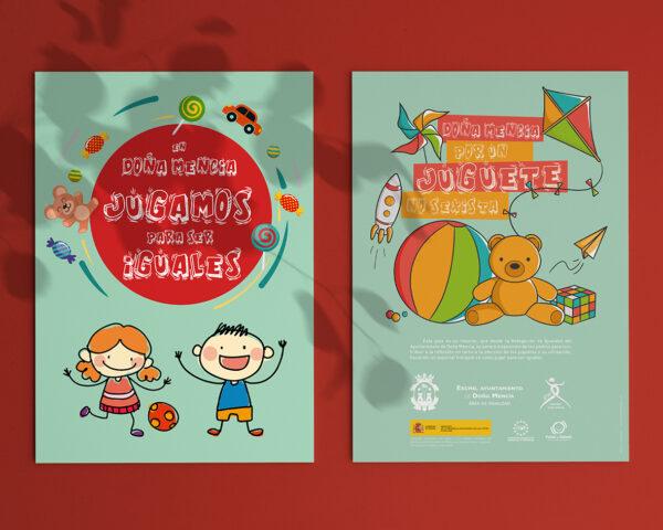 """Diseño e impresión de """"Guía del juguete no sexista""""."""