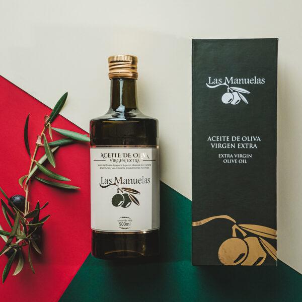 """Fotografía de producto y packaging. Aceite de Oliva Virgen Extra """"Las Manuelas"""""""