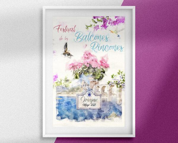Pintura digital para el Festival de Balcones y Rincones de Iznájar 2021